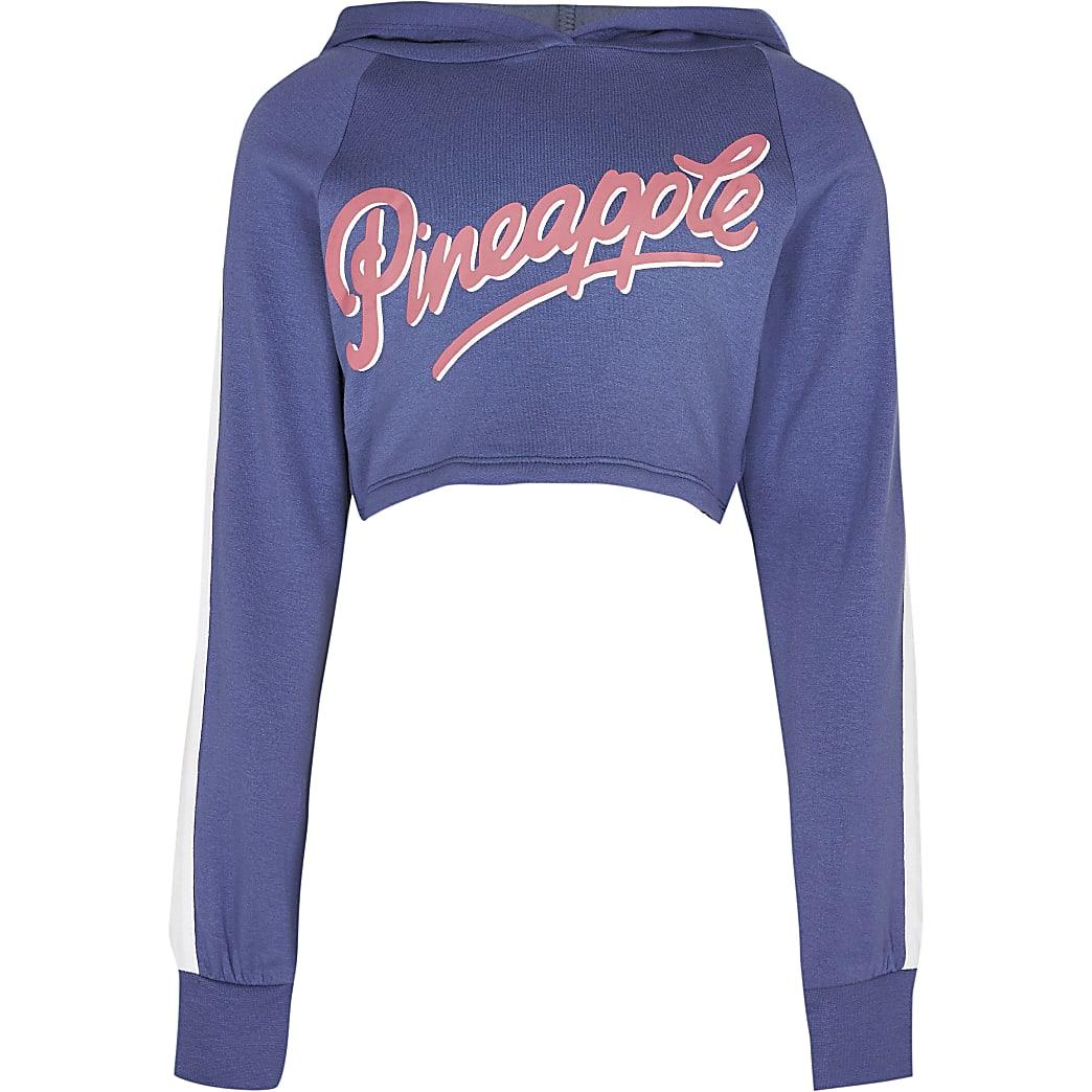 Girls Pineapple blue hoodie