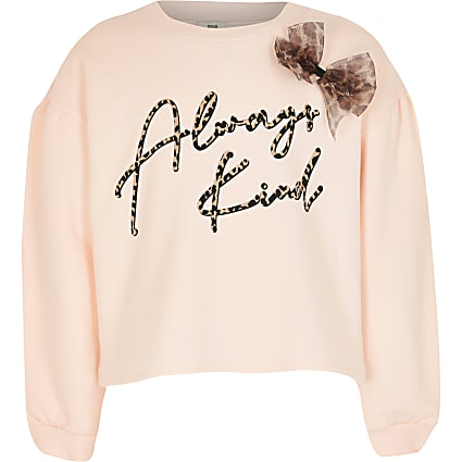Girls pink 'Always Kind' sweatshirt