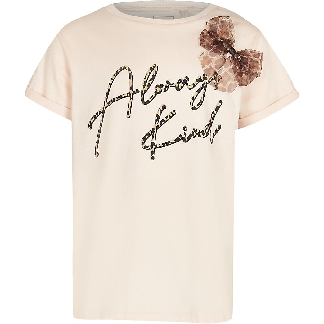 Girls pink 'Always Kind' t-shirt