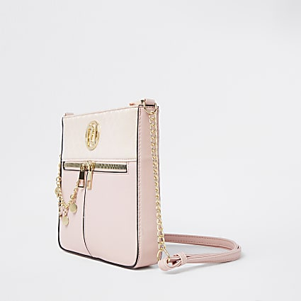Girls pink chain messenger bag
