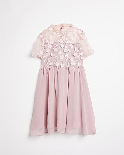 Girls pink Chi Chi floral dress