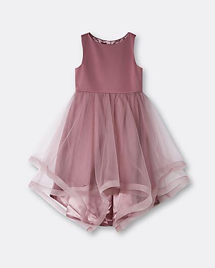 Girls pink Chi Chi organza dress