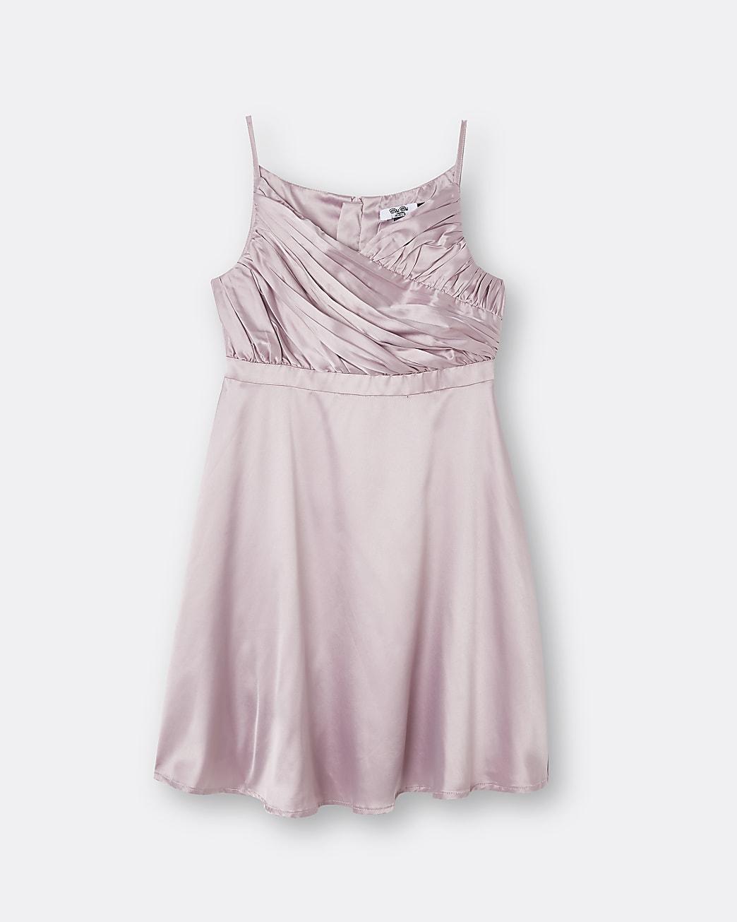 Girls pink Chi Chi ruffle detail dress