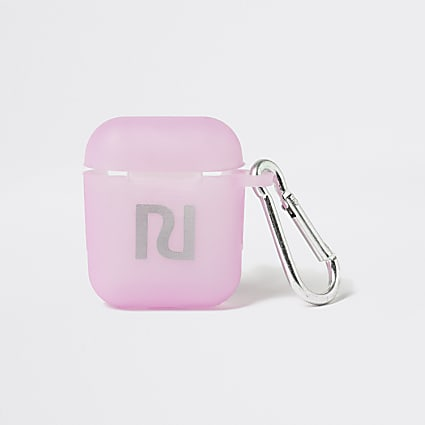 Girls pink earpod holder