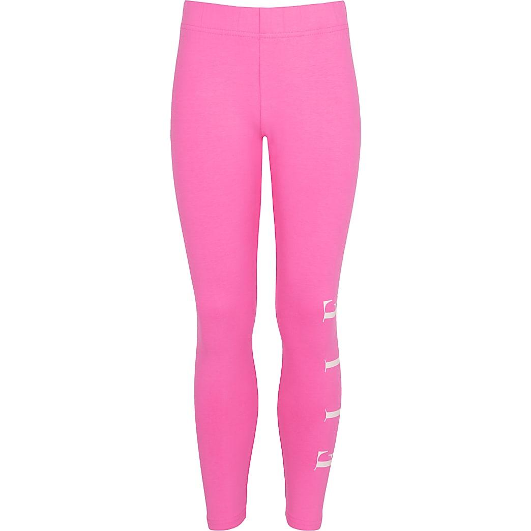 Girls pink ELLE leggings