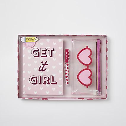 Girls pink 'Get it Girl' notepad kit