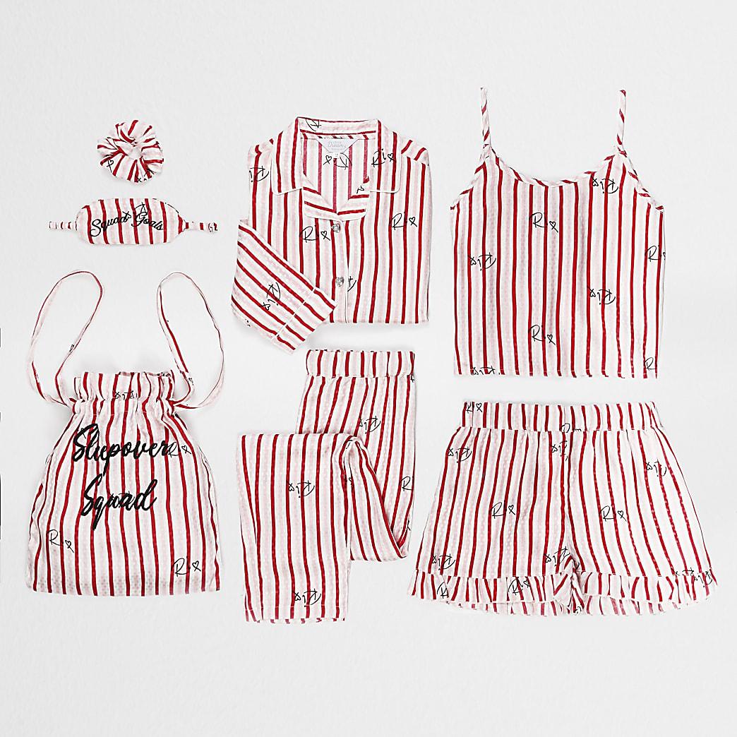 Girls pink heart 4 piece sleepover set