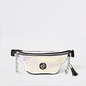 Girls pink holographic bumbag