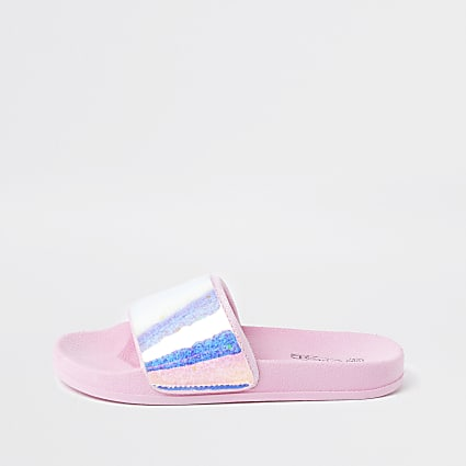 Girls pink holographic slider