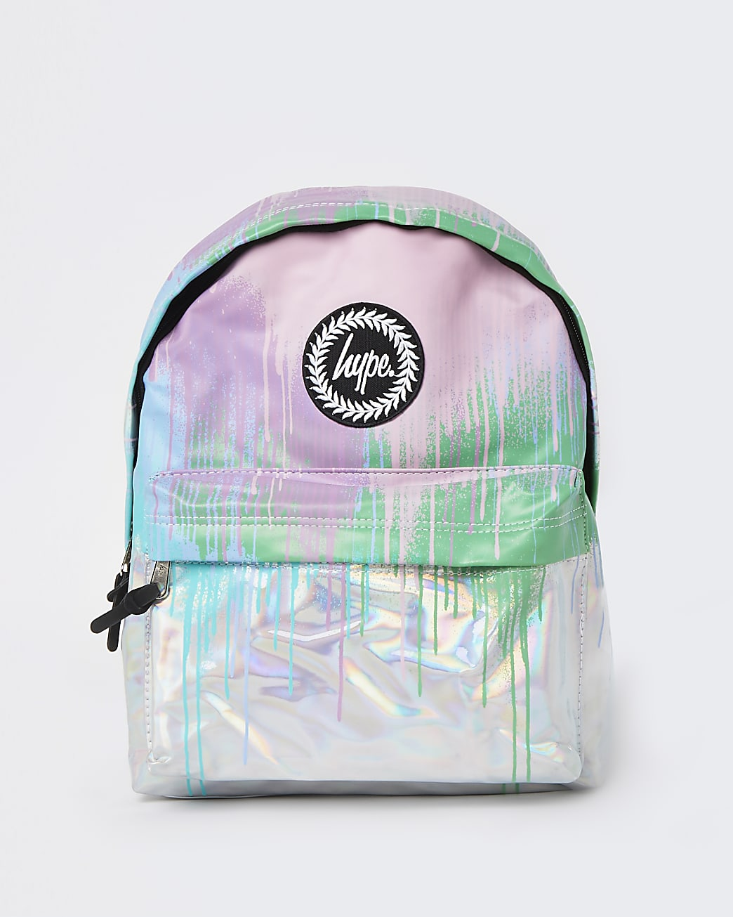Girls pink Hype holographic backpack