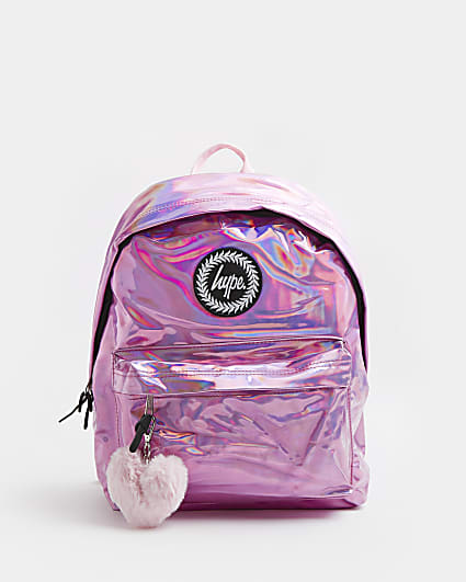 Girls pink Hype marble back pack