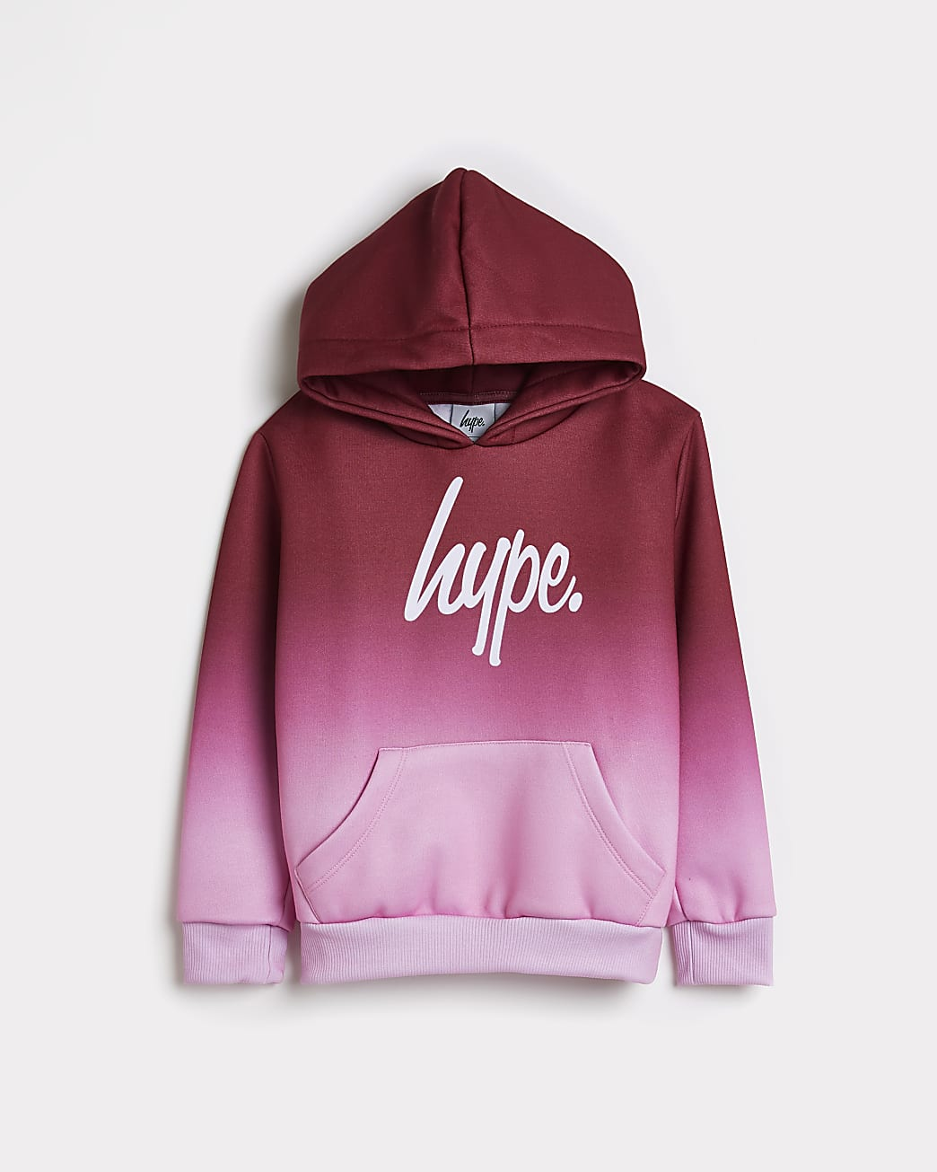 Girls pink Hype ombre hoodie