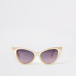 Rosa-irisierende Cateye-Sonnenbrille