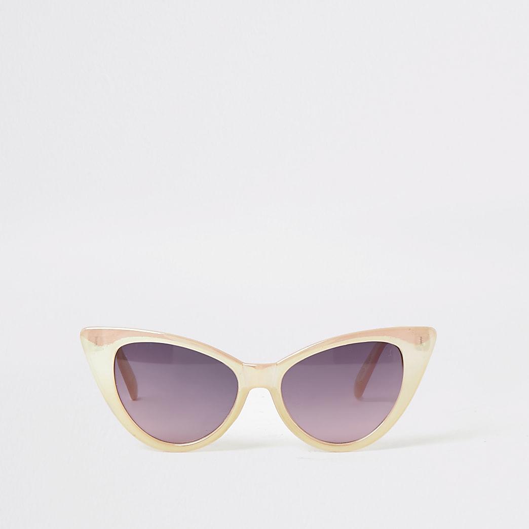 Girls pink iridescent cateye sunglasses