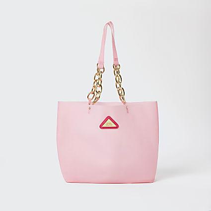 Girls pink jelly shopper bag