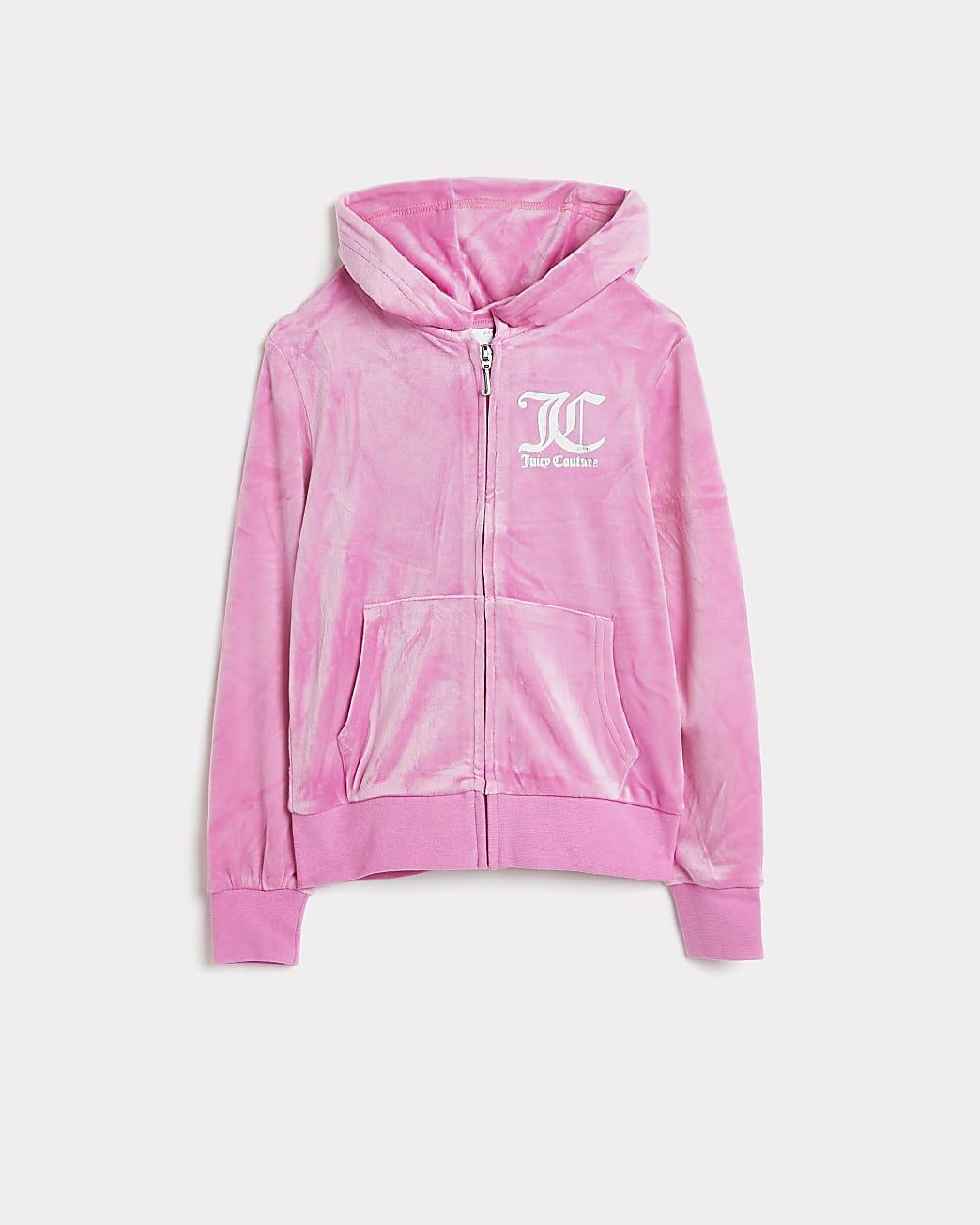 Girls pink Juicy Couture hoodie