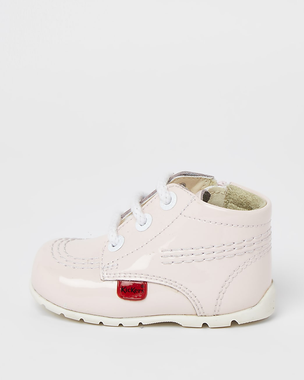 Girls pink Kickers Hi top shoe
