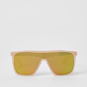 Roze weerspiegelende visor zonnebril voor meisjes