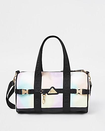 Girls pink nylon ombre holdall bag