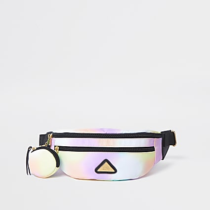 Girls pink nylon ombre purse bumbag