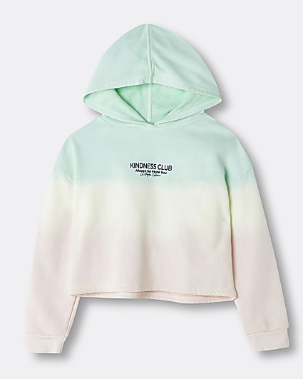 Girls pink ombre graphic hoodie