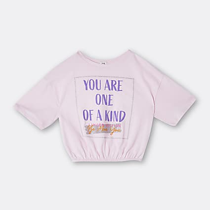 Girls pink 'One Of A Kind' t-shirt