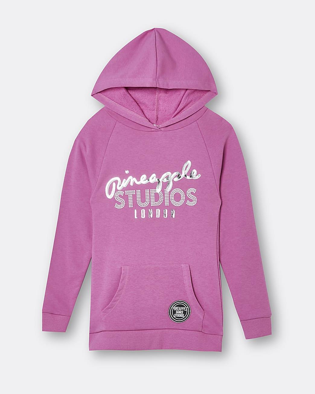 Girls pink Pineapple hoodie