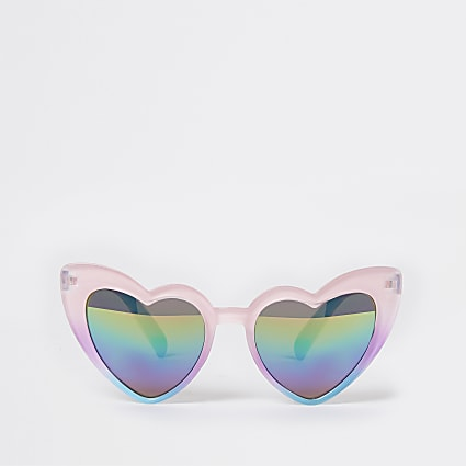 Girls pink rainbow cat eye sunglasses