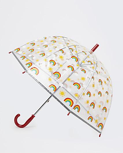 Girls pink rainbow umbrella