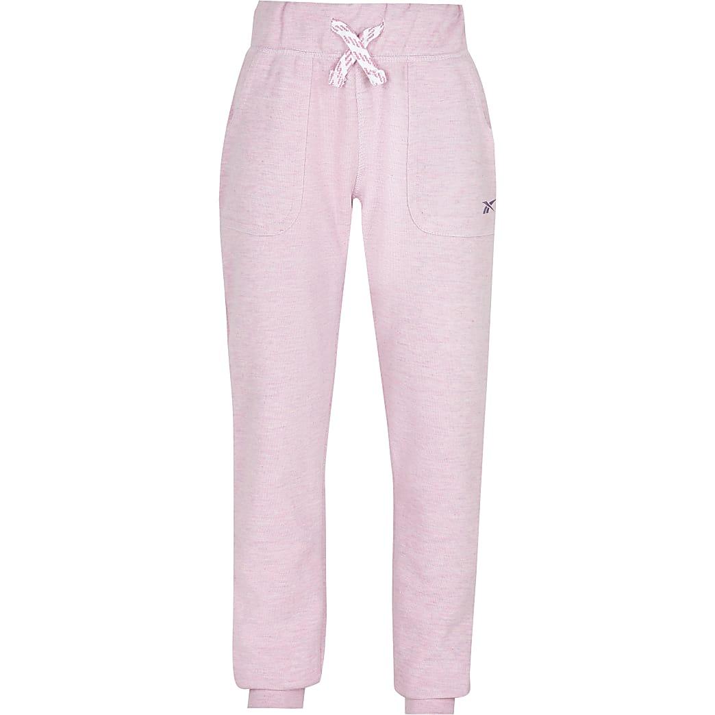 Girls pink Reebok cuffed joggers