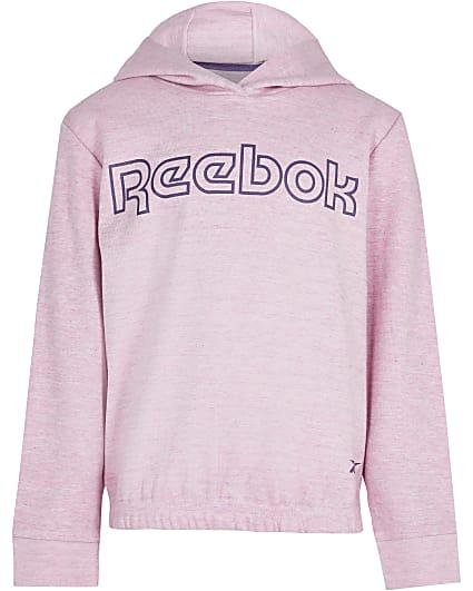 Girls pink Reebok hoodie