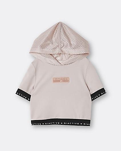 Girls pink RI Active hooded sweatshirt