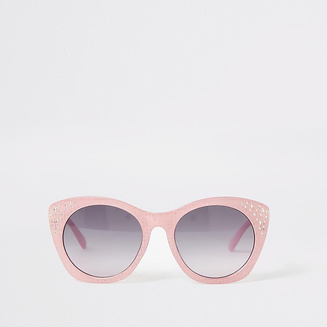 Roze verfraaide RI glamourzonnebril voor meisjes