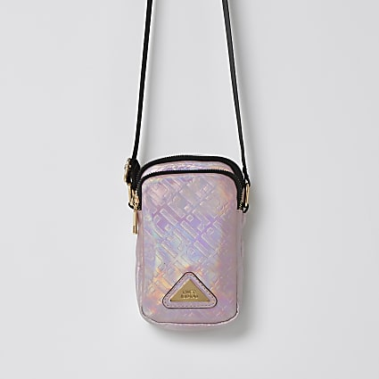 Girls pink RI monogram festival bag