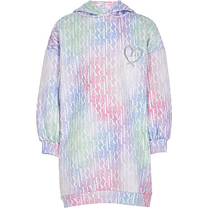 Girls pink RI monogram sweat dress