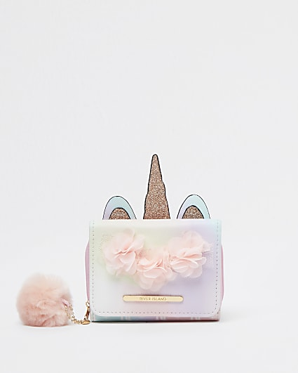 Girls pink RI ombre unicorn purse