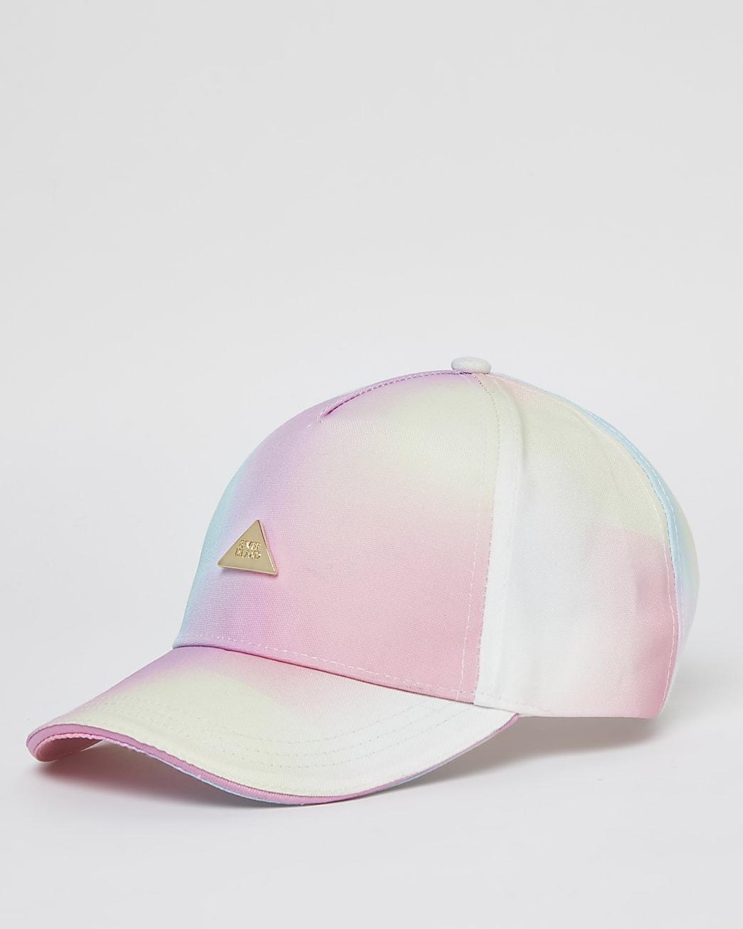 Girls pink RI rainbow ombre cap