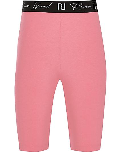Girls pink RI waistband cycling short