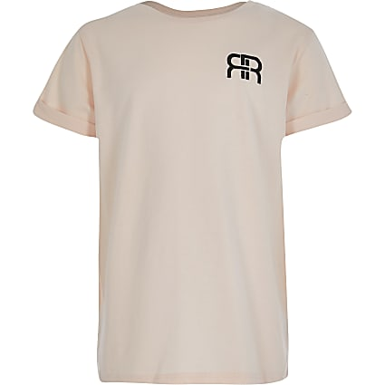 Girls pink RIR boyfriend t-shirt