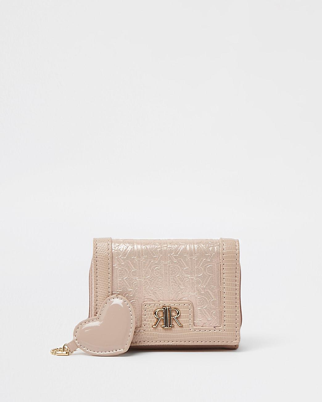 Girls pink RIR patent purse