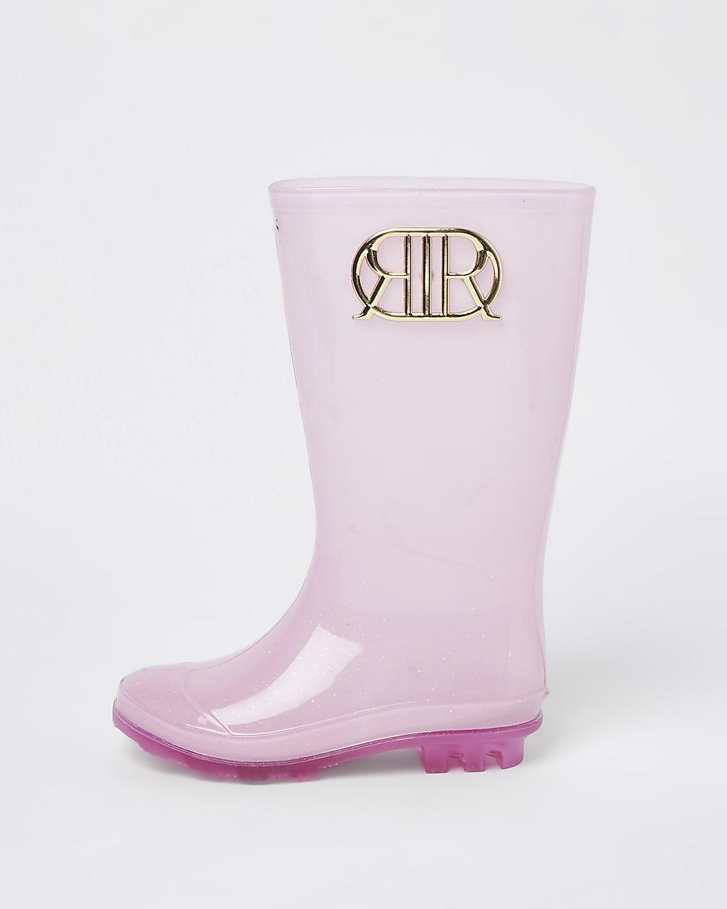 Girls pink RIR wellie boots