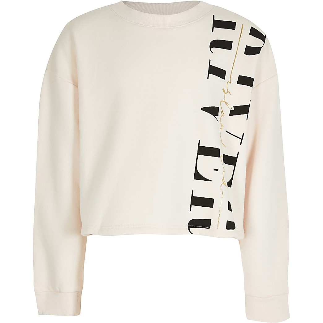 Girls pink 'River' sweatshirt