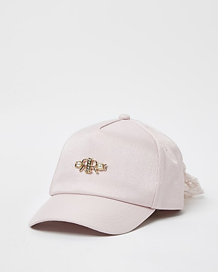 Girls pink RR bow back cap
