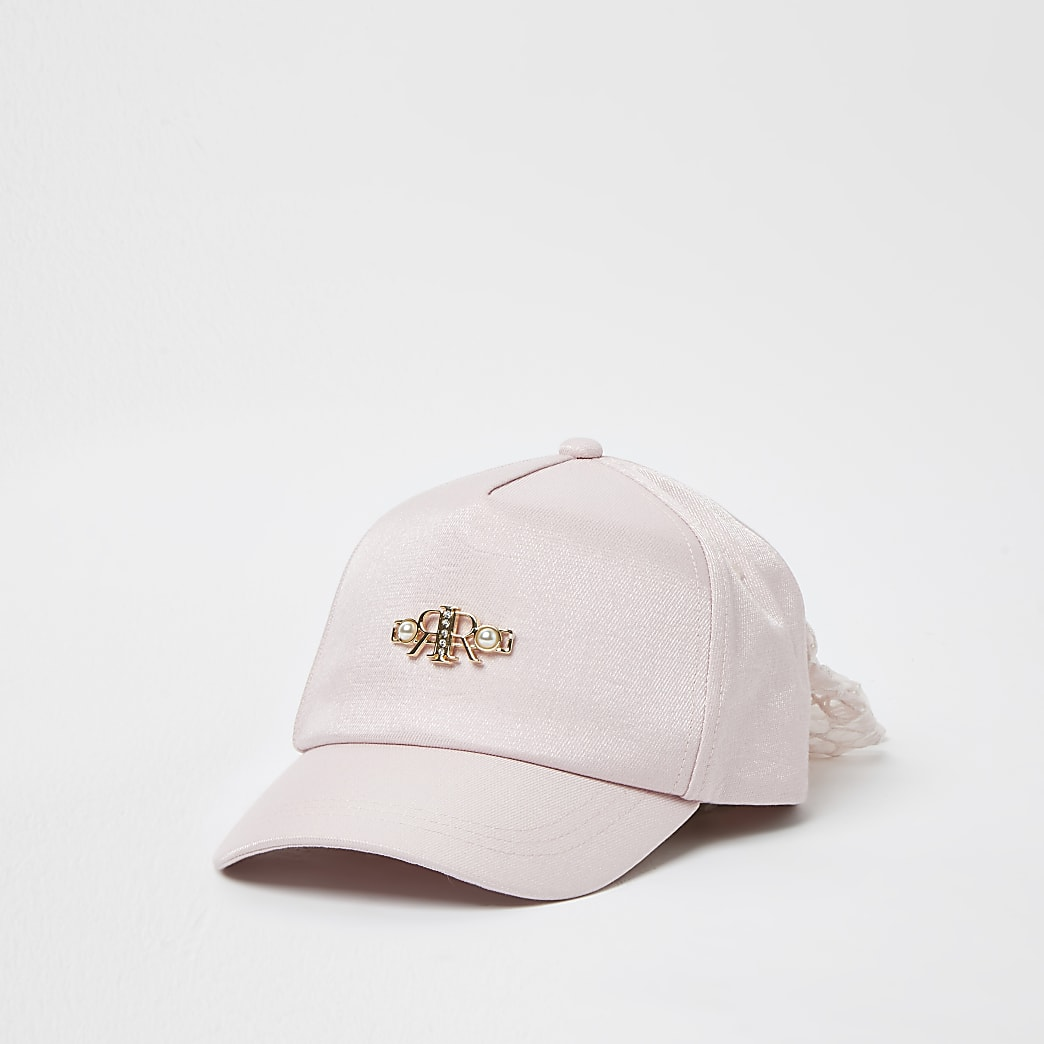 Girls pink RR bow back cap