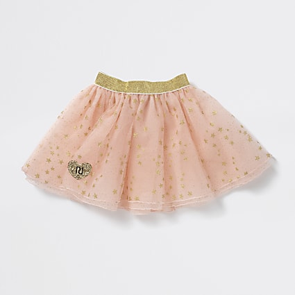Girls pink star print tutu
