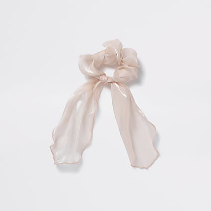 Girls pink tail scrunchie