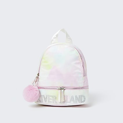 Girls pink tie dye backpack