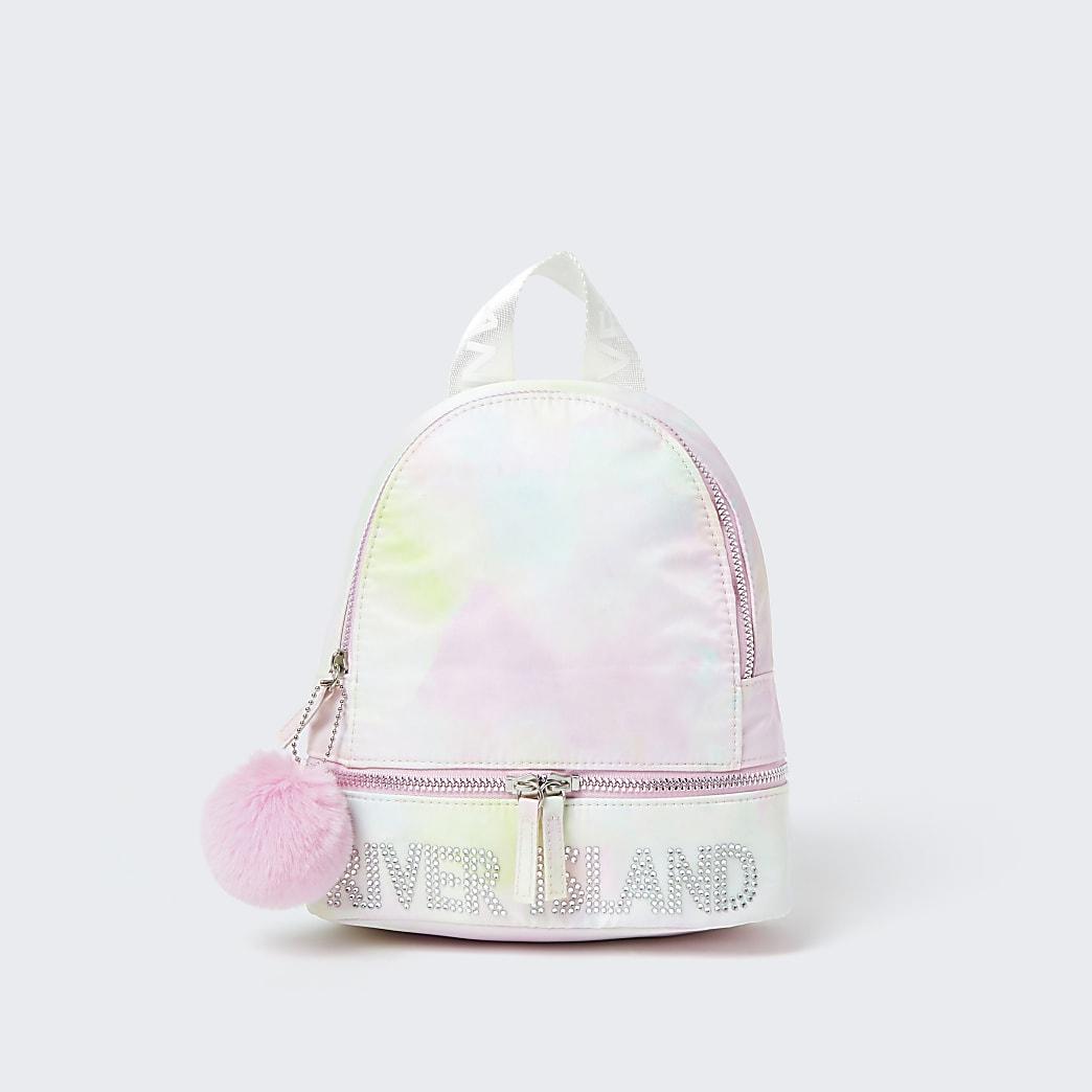 Girls pink tie dye backpack