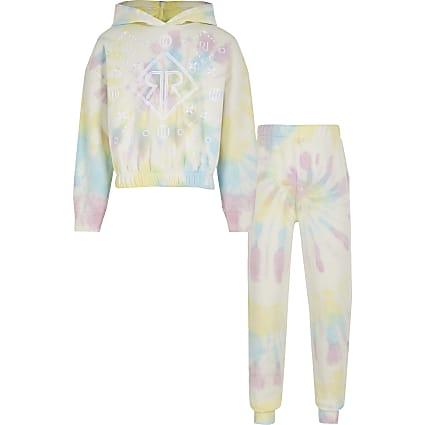 Girls pink tie dye RI outfit