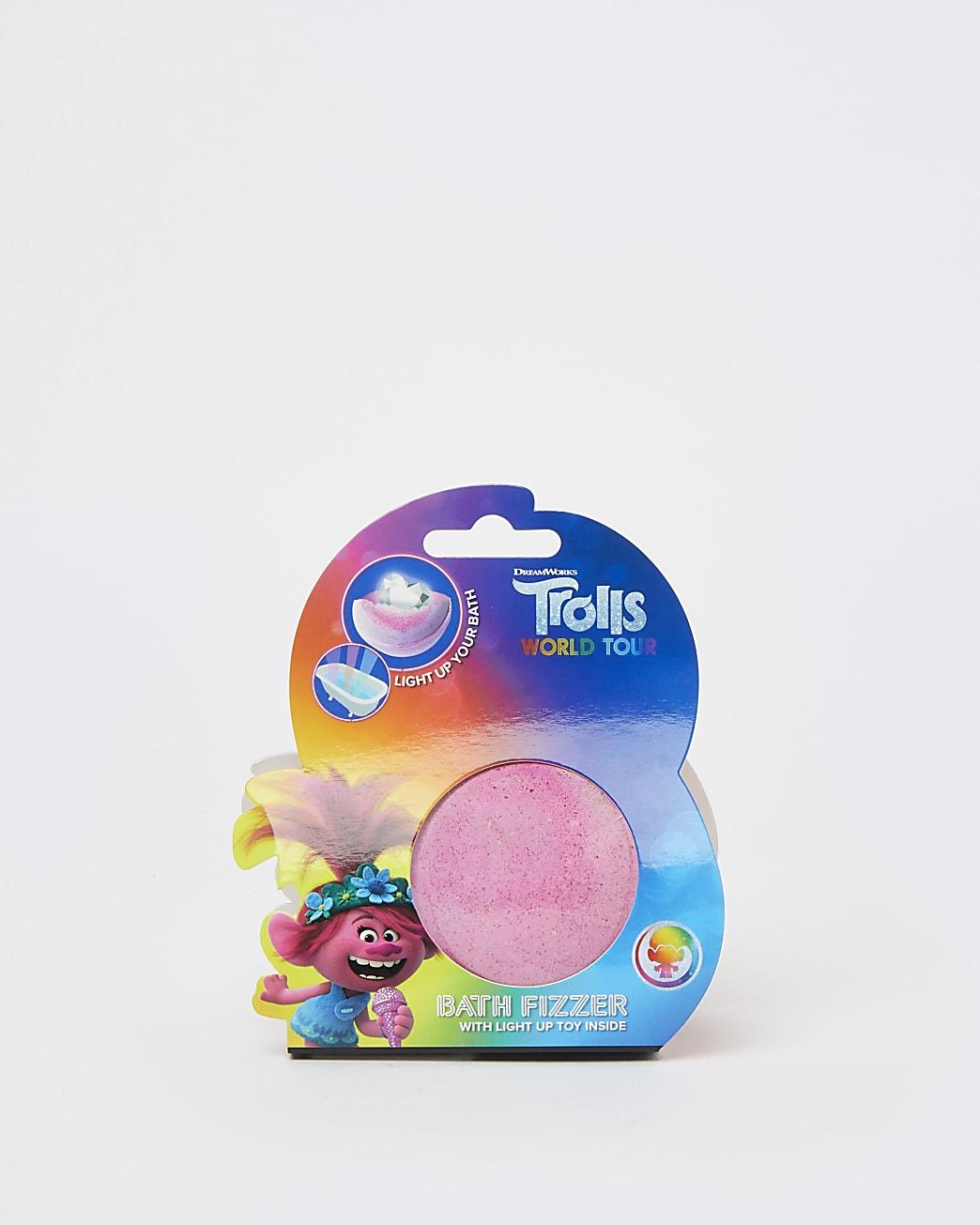 Girls pink Trolls bath fizzer